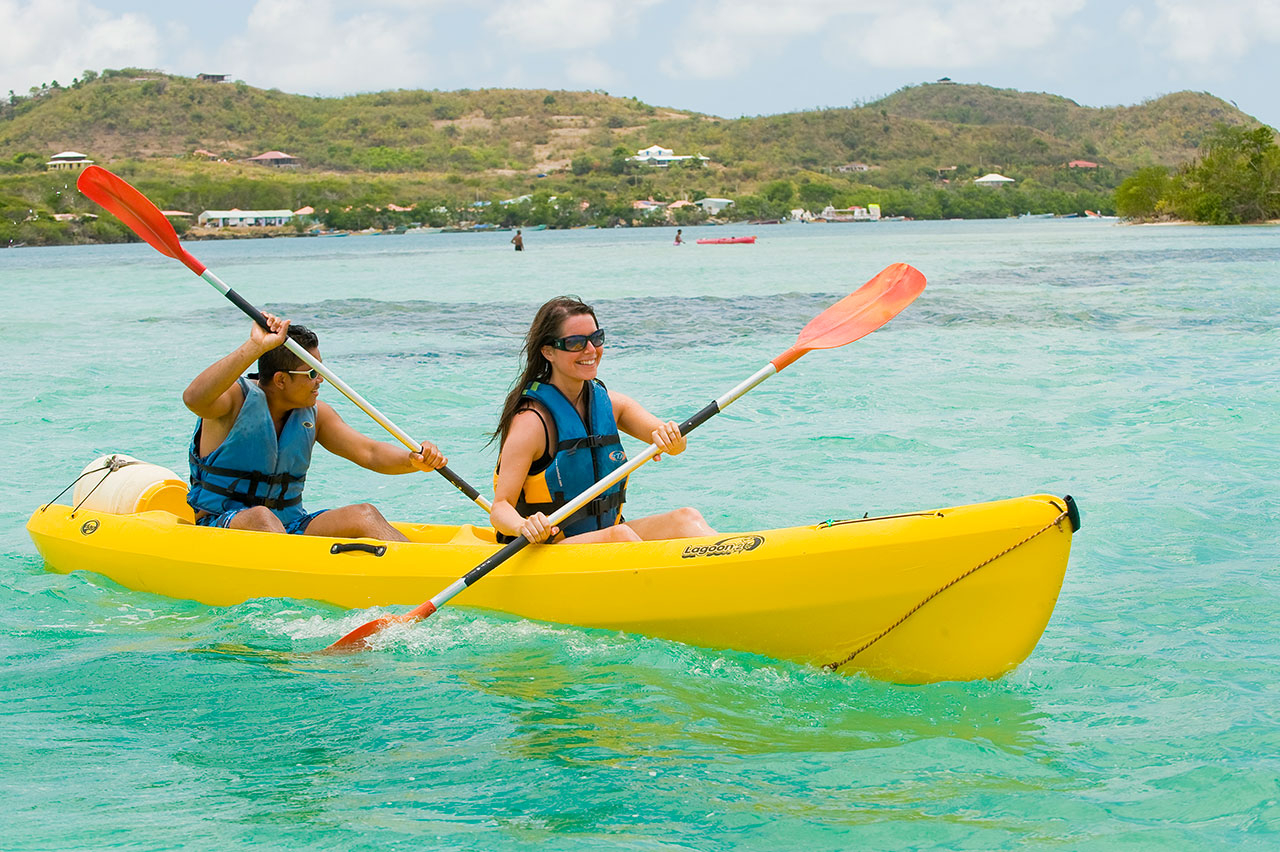 Canoe-kayak at Anse Michel