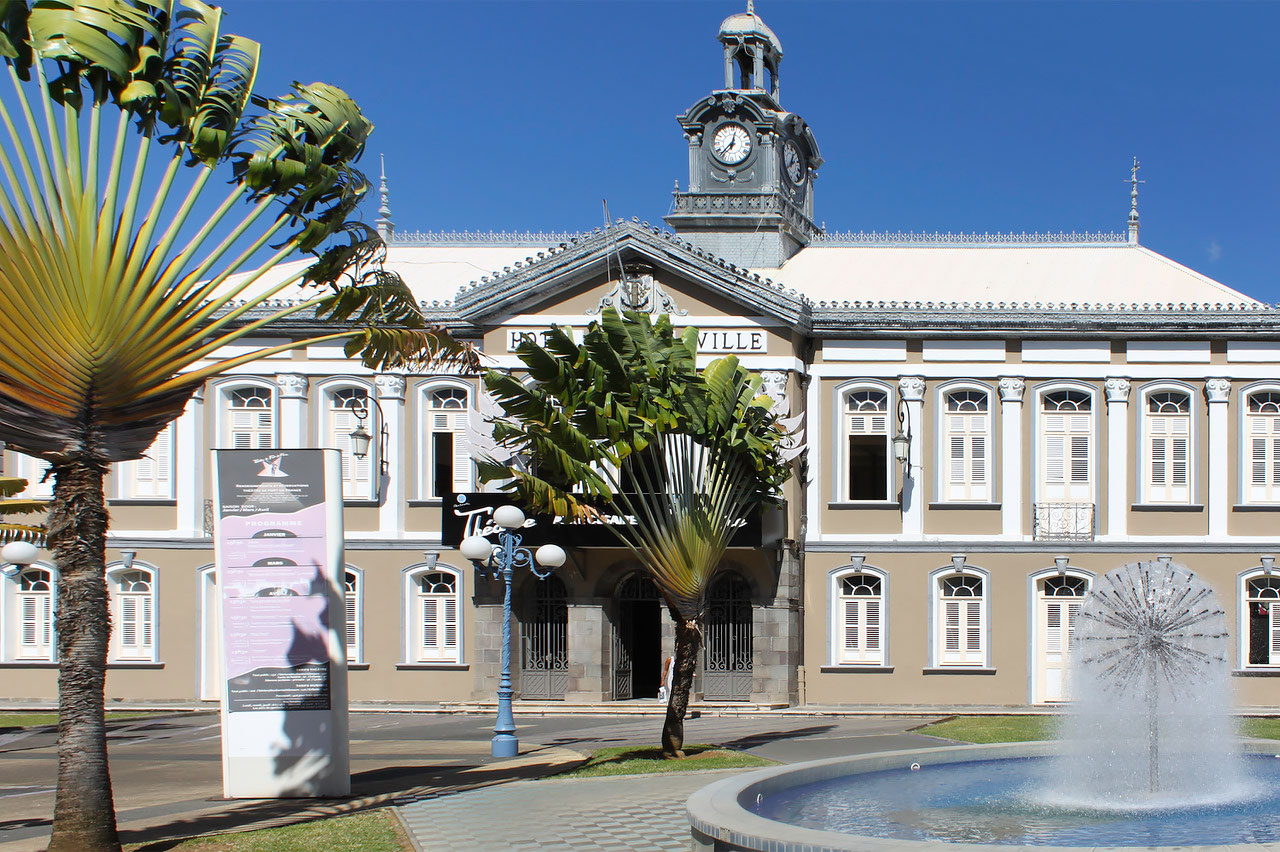 Fort-de-France old City Hall in Martinique now Aimé Césaire theater