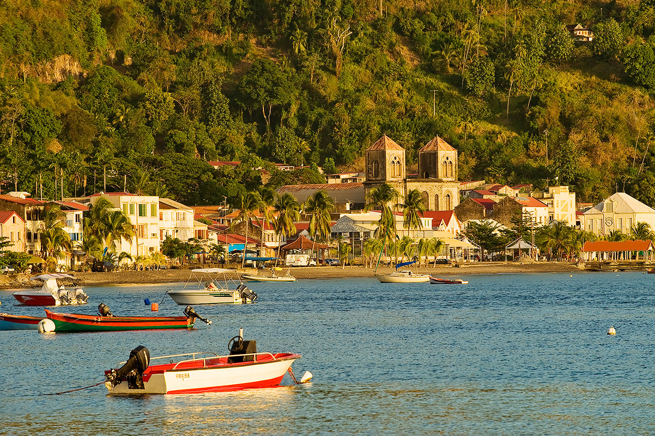 Saint-Pierre city in Martinique