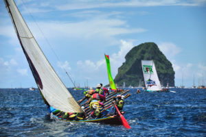 Yoles boat race in Martinique